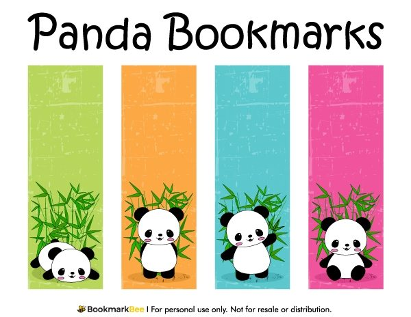 photo about Cute Printable Bookmarks titled Cost-free Printable Panda Bookmarks. Obtain The Pdf Template At