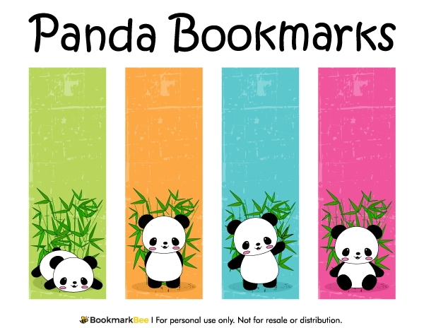 Free Printable Panda Bookmarks. Download The Pdf Template At Http within Cute Bookmark Designs To Print 26463