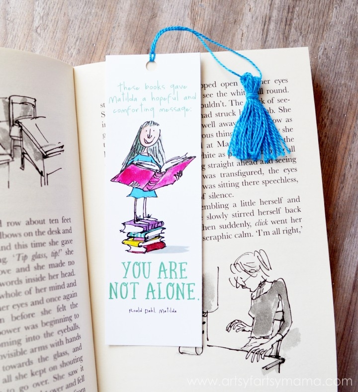 Free Printable Roald Dahl Bookmarks | Artsy-Fartsy Mama inside Diy Bookmarks With Quotes 27990