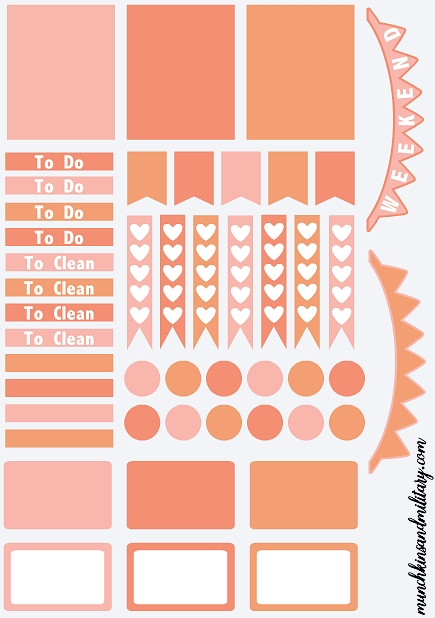 Free Printable Template To Create Your Own Diy Erin Condren Life throughout Planner Stickers Template 28441