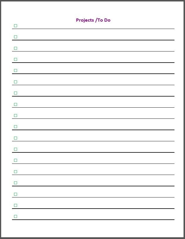 Free Printable To Do List For Work | World Of Example in Free Printable To Do List For Home 25483