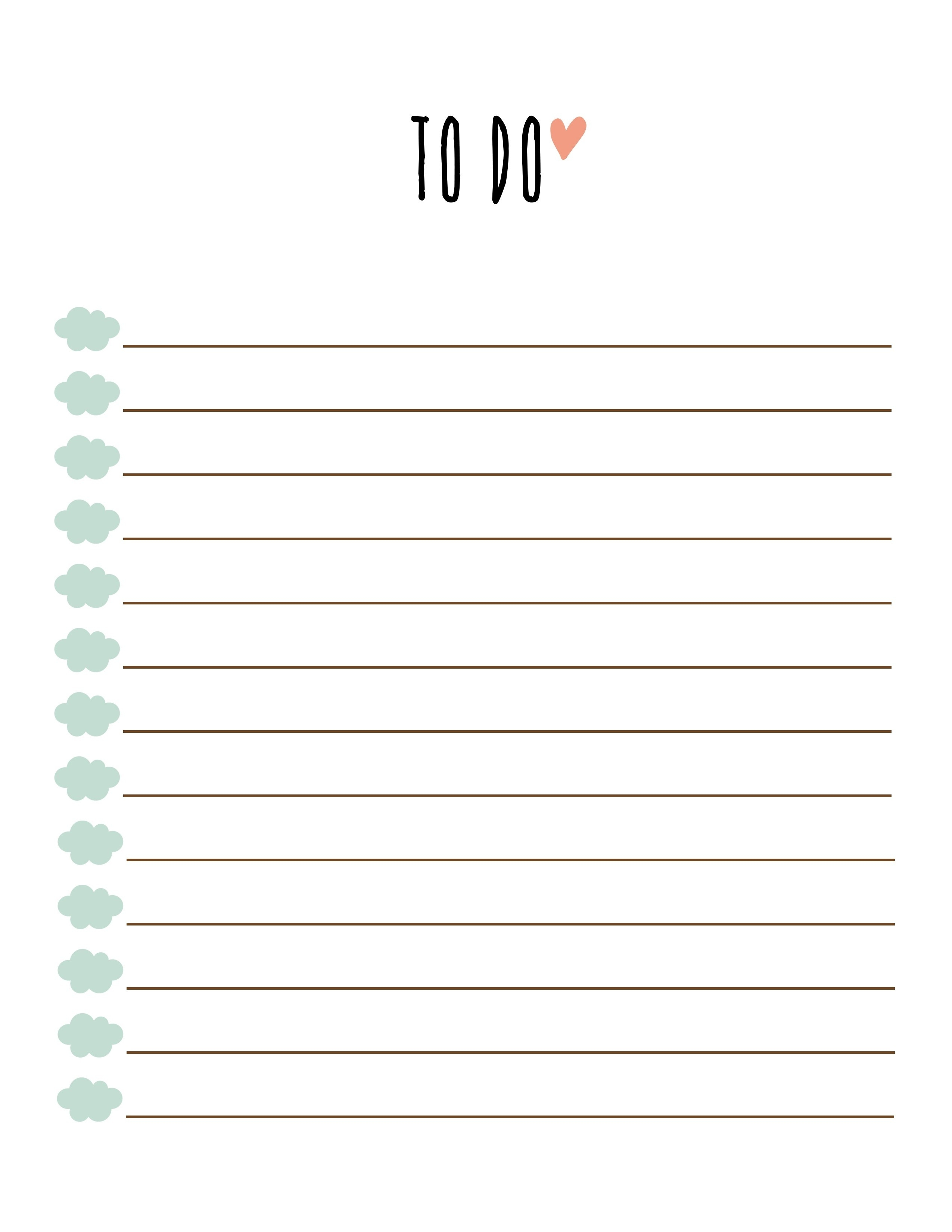 Free Printable To Do List Pdf | World Of Example in Free Printable To Do List Pdf 25463
