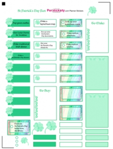 Free St Patrick's Day Fun Planner Sticker Template, Free Planner inside Planner Stickers Template 28441