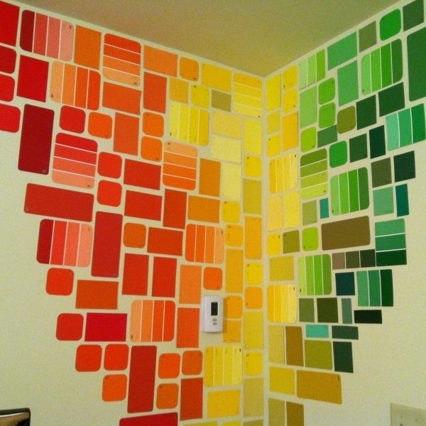 Free Wall Art With Paint Chips Pinterest Intended For Painting Dorm