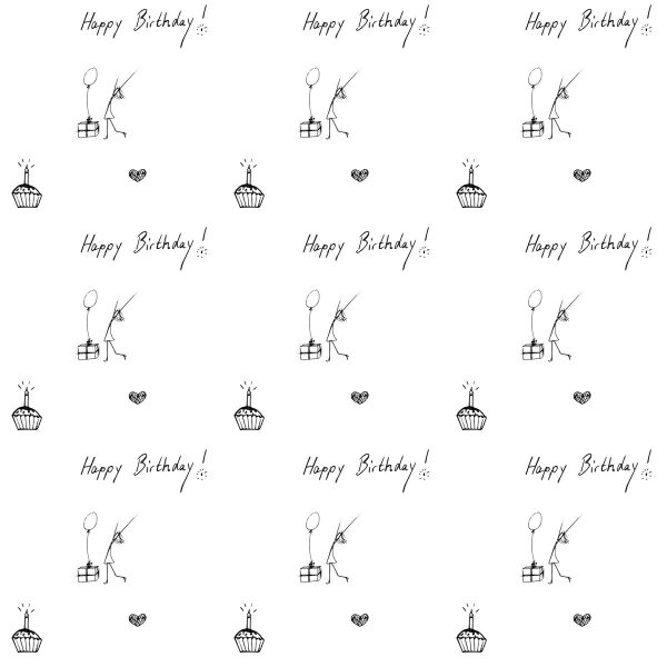 image relating to Printable Birthday Wrapping Paper called Totally free+Printable+Content+Birthday+Wrapping+Paper Birthday