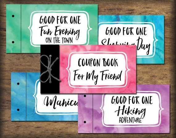 Friend Bff Coupon Book Printable. Instant Download Gift Idea. Diy throughout Birthday Coupon Ideas For Friend 30328