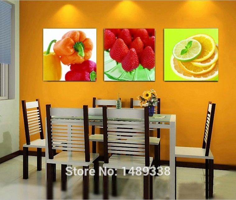 Fruits Kitchen Wall Art World Of Example Attractive Fruit Inside 2 throughout Fruits Kitchen Wall Art 27099