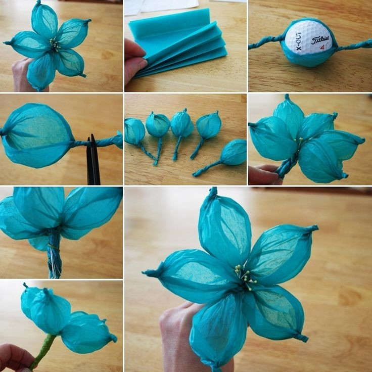 Fun Crafts Made From Tissue Paper with How To Make Tissue Paper Crafts 26814