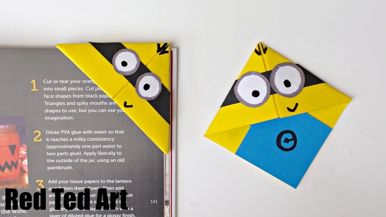 Fun Minion Bookmark Craft - Youtube inside How To Make Bookmarks At Home Easy Designs 27160