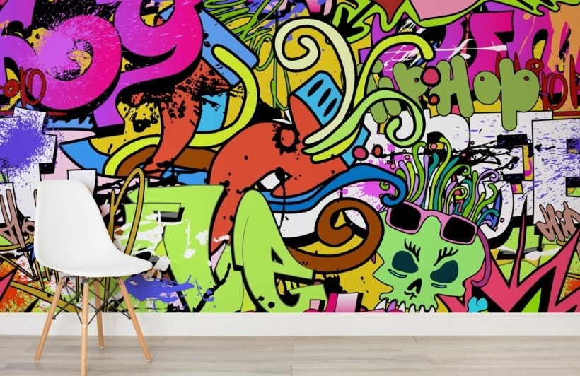 Funky Wall Art Wallpaper Wall Mural | Muralswallpaper.co.uk regarding Street Wall Art Wallpaper 29969
