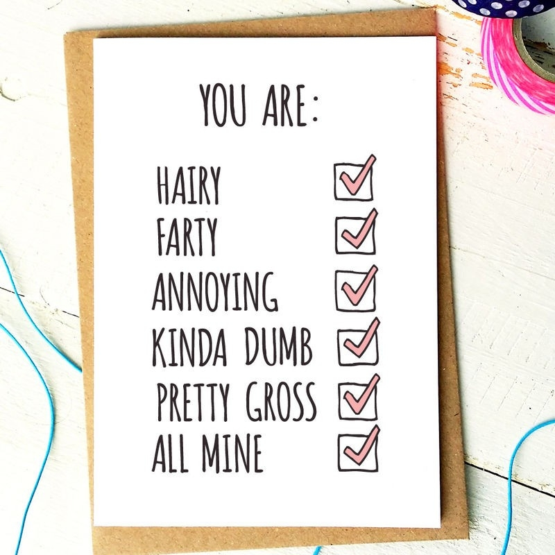 Funny Anniversary Card - Funny Love Card - Boyfriend Card throughout Cute Love Cards For Him 28214