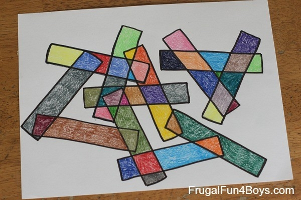 Geometric Art Project For Kids (With Printable Coloring Pages!) within Geometric Shape Art Projects 24838