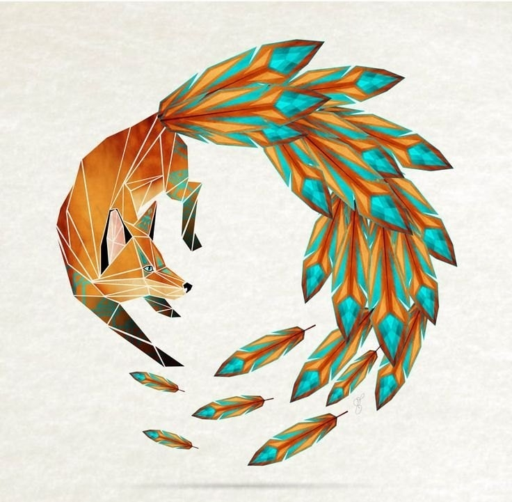 Geometric Shape Art Animals | Resume Formats with Geometric Shape Art Animals 24828
