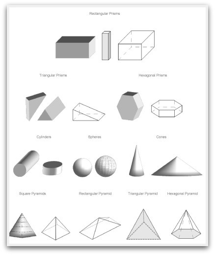 Geometric Shapes To Print, Cut, Color And Fold in Geometry Shapes 3D 25020