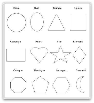 Geometric Shapes To Print, Cut, Color And Fold with Geometric Shape 2D 24899