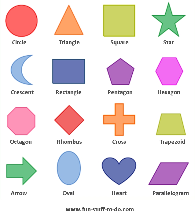 Geometric Shapes Worksheets | Free To Print inside Geometry Shapes 2D 25060
