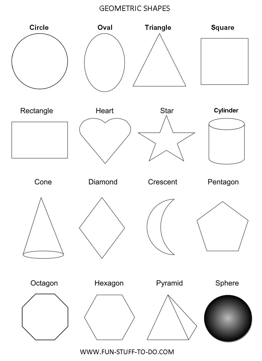 Geometric Shapes Worksheets | Free To Print throughout Geometry Shapes Worksheets 25030