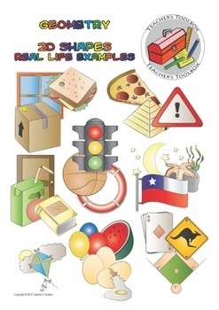 Geometry 2D Shapes Real Life Examples Clip Art - 22 Pngs | Math for Geometry Shapes In Real Life 25070