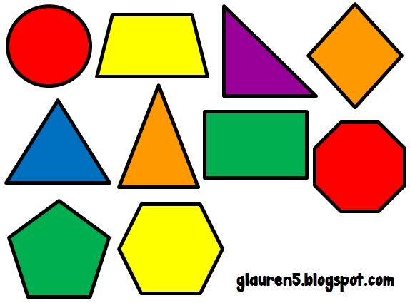 Ginger Snaps Clip Art: Primary Geometric Shapes Set | Clip Art throughout Shapes Clip Art 24990