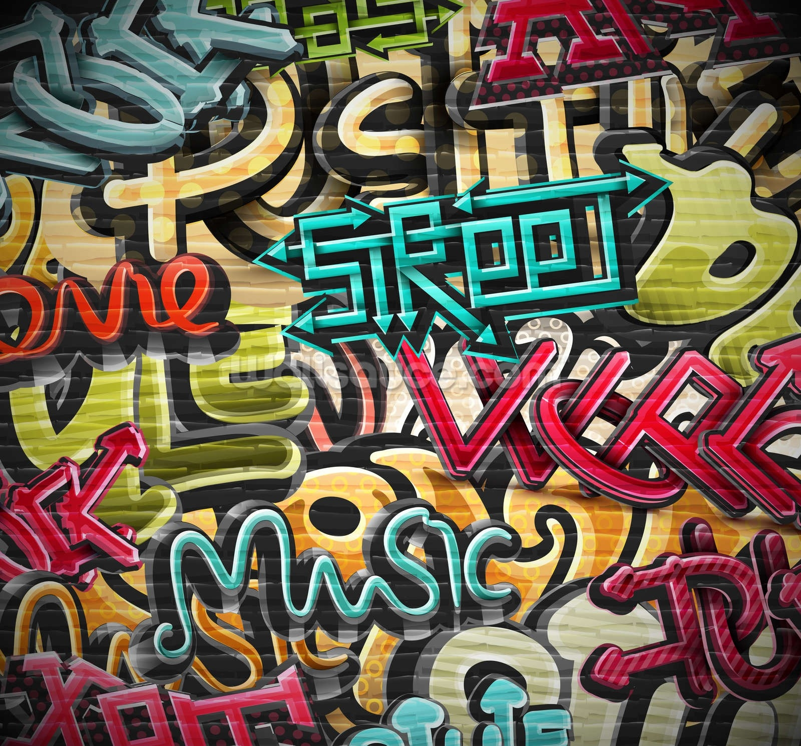 Graffiti - Street Wallpaper Wall Mural | Wallsauce Australia for Street Wall Art Wallpaper 29969
