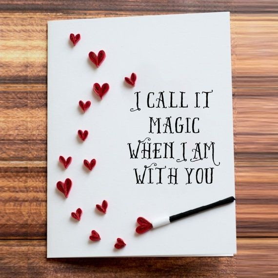 Greeting Card. I Call It Magic When I Am With You. Heart Shower with regard to I Love U Cards For Boyfriend Handmade 30117