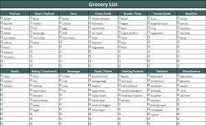 Grocery List Template intended for Grocery List Template Excel 26332