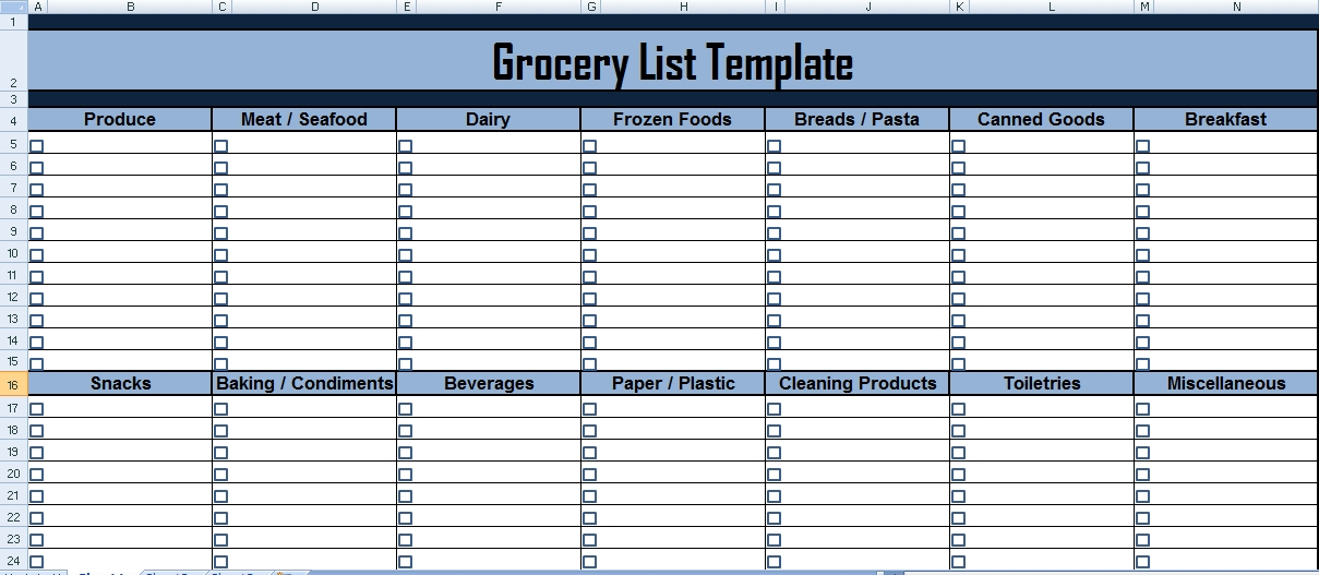 Grocery List Xls - Endo.re-Enhance-Dental.co pertaining to Grocery List Template Excel 26332