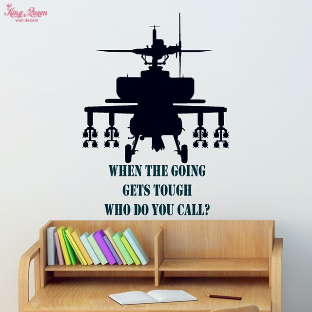 Gunship Wall Sticker Vinyl Quotes Decals Teen ,boys Bedroom Wall throughout Wall Art Ideas For Bedroom Boys 30000