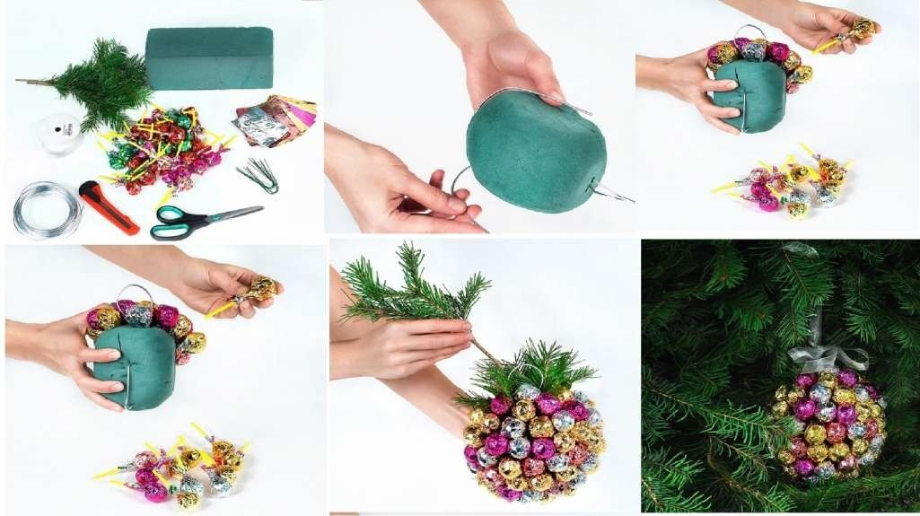 Handmade Christmas Chupa Chups Ball Decoration with How To Make Handmade Things For Decoration Step By Step 29035