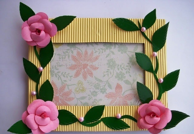 Handmade Photo Frame Craft Project ~ Ideas Arts And Crafts Projects in Handmade Arts And Crafts Ideas 29200