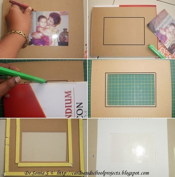 Handmade Photo Frames Procedure Cards Crafts Kids Projects Photo for How To Make Handmade Photo Frames With Handmade Paper Step By Step 27693