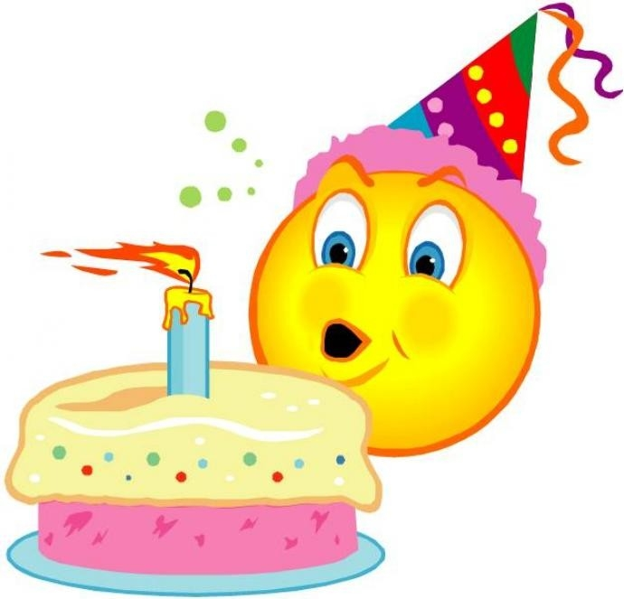Happy Birthday Smiley Face Clipart with Birthday Smiley Faces Clip Art 28375