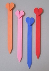 Heart Bookmark with regard to How To Make Heart Bookmarks Step By Step 27868