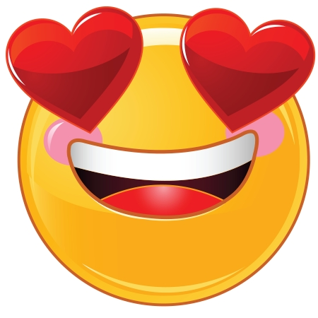 Heart-Shaped Eyes | Symbols & Emoticons pertaining to Facebook Emoticon Stickers Heart 30492
