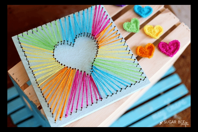 Heart String Art | Clever, Teen And Creative pertaining to Creative Arts And Crafts Ideas For Teenagers 27649