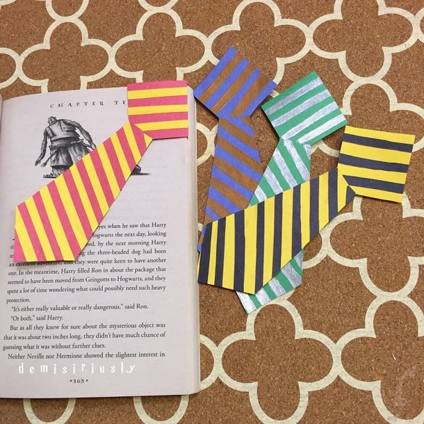 Hogwarts Uniform Ties Corner Bookmarks - Image #2837054 By for Handmade Bookmarks For Books 29612