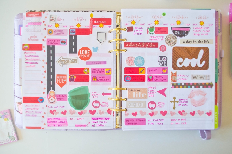 Holly's Planner: February In Review inside Erin Condren Planner Stickers 30399