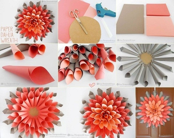 Home Decoration Craft Ideas Endearing Inspiration Diy Paper Craft inside Paper Crafts Projects 27537
