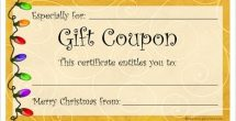 Homemade Coupon Design