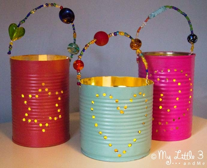 Homemade Gifts - Tin Can Lanterns - Kids Craft Room pertaining to Handmade Crafts For Kids To Make 27703