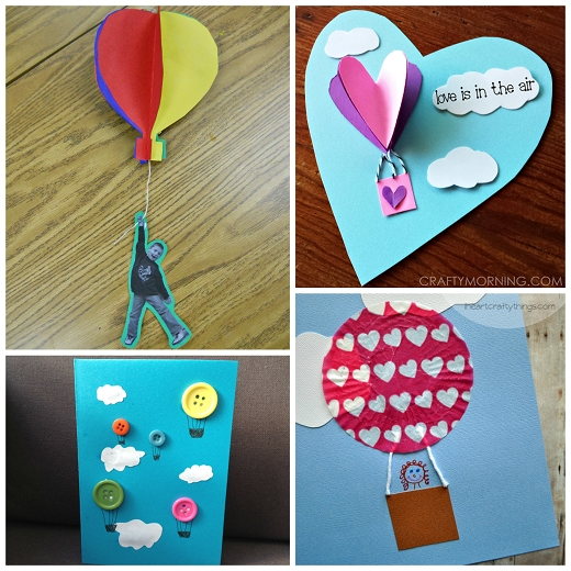 Hot Air Balloon Crafts For Kids To Make - Crafty Morning throughout Crafts For Kids To Do At Home Step By Step 27816