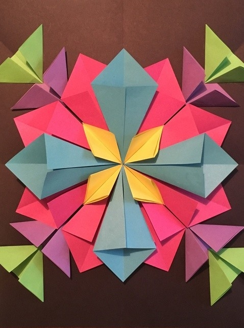 How To Create A 3D Radial Symmetry Paper Sculpture - Snapguide regarding Construction Paper Designs 28658