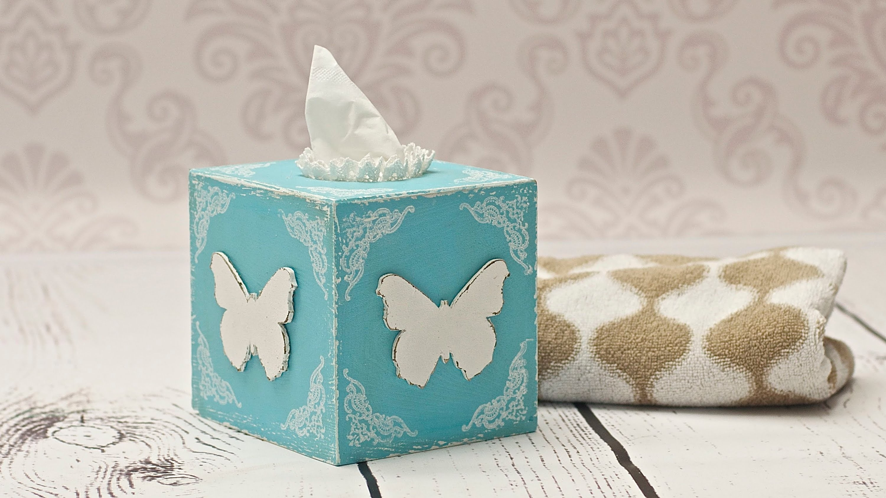 How To Decorate A Tissue Box - Decoupage Diy By Catherine - Youtube intended for Tissue Paper Decoupage Crafts 27554