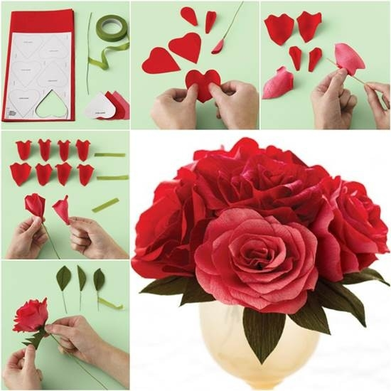 How To Diy Easy Crepe Paper Rose intended for How To Make Paper Roses Step By Step With Pictures 29076