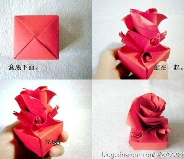 How To Fold Cute Origami Paper Craft Rose Box For Valentine's Day for How To Make Cute Paper Crafts 26915