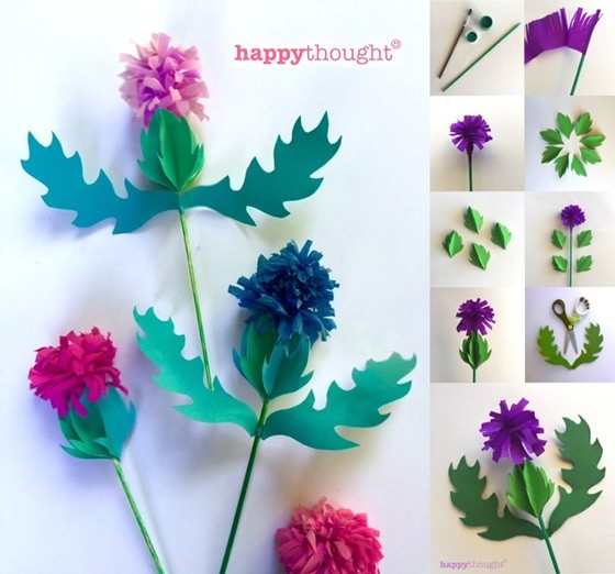 How To Make A Paper Thistle - Instructions + Pdf Templates! for Paper Craft Ideas For Decoration Step By Step 27460