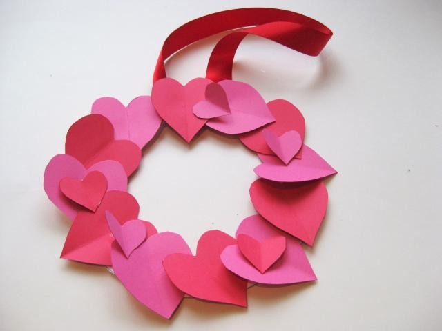 How To Make A Valentine's Day Heart Wreath | Heart Wreath inside Easy Crafts For Kids With Paper Step By Step 27847