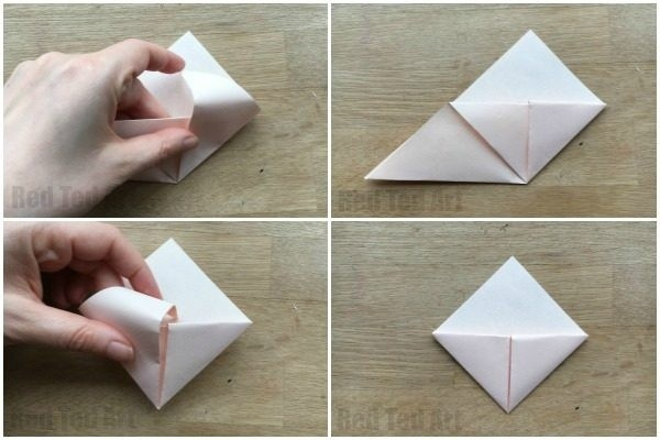 How To Make An Origami Bookmark Corner - Red Ted Art's Blog in How To Make Corner Bookmarks With Paper 29542
