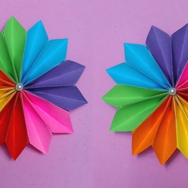How to make easy flower with color paper making paper flowers with how to make easy flower with color paper making paper flowers with how to make paper roses with construction paper step by step mightylinksfo