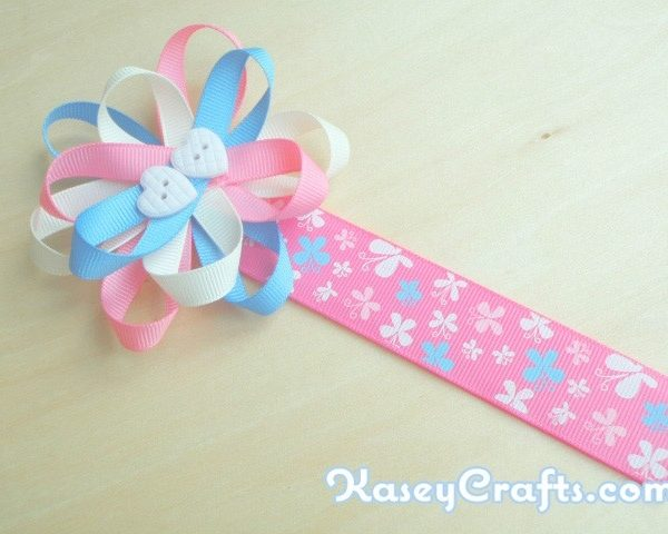 How To Make Flower Ribbon Bookmark For Kids Using Grosgrain within How To Make Bookmarks For Students